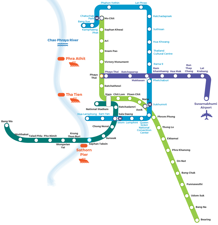 Bangkok City Map - High resolution Interactive Map of