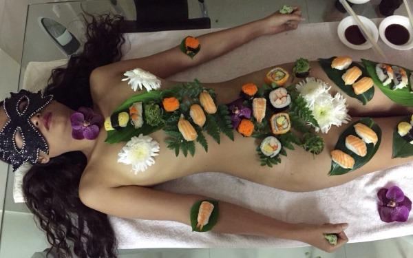 Naked Sushi Girl